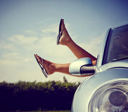 Relaxing in car Royalty Free Stock Image