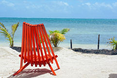 Relaxing Chair on the Beach. Relaxing Chair on a remote beach royalty free stock photography