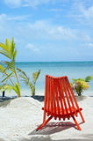 Relaxing Chair on the Beach. Relaxing Chair on a remote beach stock photo