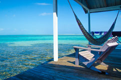 Relaxing on Chair - beautiful island Royalty Free Stock Image