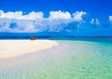 Relaxing on Chair - beautiful island Royalty Free Stock Photo
