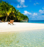 Relaxing on Chair - beautiful island Stock Image