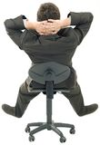 Relaxing on Chair Cutout Royalty Free Stock Image