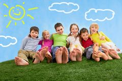 Relaxing children Stock Photos