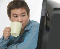 Relaxing with a coffee Royalty Free Stock Image