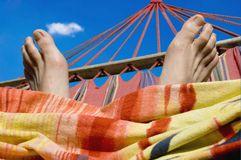 Relaxing on couch Stock Photos