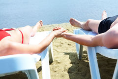 Relaxing couple Royalty Free Stock Images