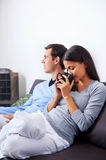 Relaxing couple Stock Image