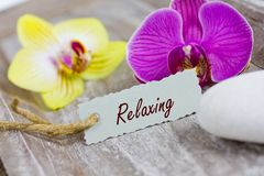Relaxing coupon Stock Photo