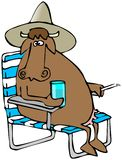Relaxing Cow stock illustration