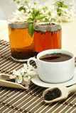 Relaxing cup of fruit tea royalty free stock image