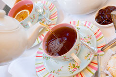 Relaxing with a cup of tea Stock Photos