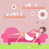 Relaxing day at home Royalty Free Stock Photo