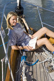 Relaxing On Deck Royalty Free Stock Images
