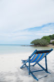 Relaxing Deck Chair On Beach Royalty Free Stock Photography