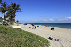 Relaxing at Deerfield Beach Stock Photo
