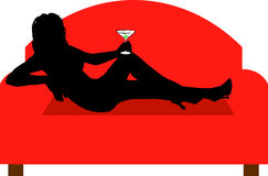 Relaxing with a drink Royalty Free Stock Photos