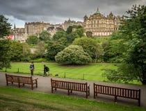 Relaxing in Edinburgh gardens Royalty Free Stock Photography
