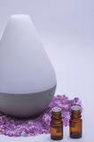 Relaxing Essential Oils and Diffuser. Aroma therapy essential oils with a diffuser Royalty Free Stock Images