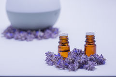 Relaxing Essential Oils and Diffuser. Aroma therapy essential oils with a diffuser Stock Images
