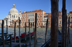 Relaxing evening on the Grand Canal in Venice Stock Photo
