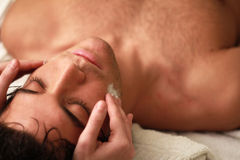 Relaxing  with eyes close Stock Images