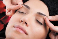 Relaxing face massage Royalty Free Stock Image