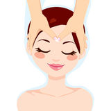 Relaxing Facial Massage Royalty Free Stock Photo