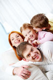 Relaxing family Royalty Free Stock Photos