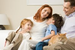 Relaxing family Royalty Free Stock Photo