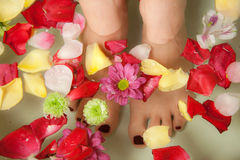 Relaxing Feet Stock Photo