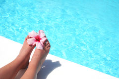 Relaxing Feet Stock Images