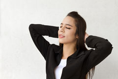 Relaxing female business executive Royalty Free Stock Photography