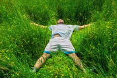 Relaxing in the field Royalty Free Stock Photos