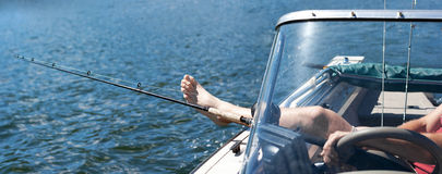 Relaxing and Fishing Royalty Free Stock Photography