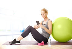 Relaxing after fitness workout royalty free stock photo