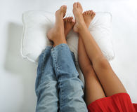 Relaxing foot Stock Images