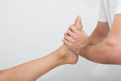 Relaxing foot massage Royalty Free Stock Photos
