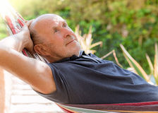 Relaxing garden man Royalty Free Stock Image