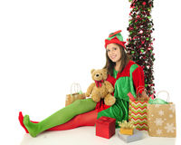 Relaxing with the Gifts Royalty Free Stock Photo