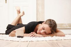 Relaxing girl Royalty Free Stock Image