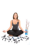 Relaxing girl in yoga position Stock Image