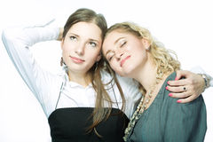 Relaxing girlfriends Royalty Free Stock Images