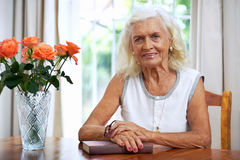 Relaxing granny Royalty Free Stock Images
