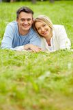 Relaxing on grass Royalty Free Stock Photography