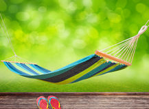 Relaxing on hammock Stock Photos
