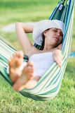 Relaxing in the hammock. Stock Photography