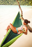 Relaxing in Hammock Stock Photos
