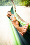 Relaxing in Hammock Stock Photography