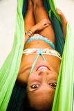 Relaxing in Hammock Royalty Free Stock Images